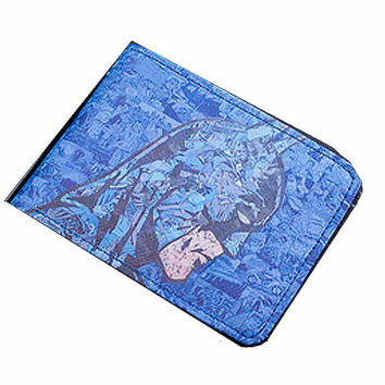 Blue Batman ART Design Wallet .for Kids