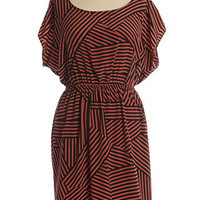 Even Steven Dress in Rust - $39.95 : Indie, Retro, Party, Vintage, Plus Size, Dresses and Clothing in Canada