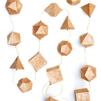 Glittered Geometry Garland