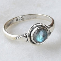 Labradorite Ring, Sterling Silver Ring, Labradorite Stone, Gemstone Ring, Sterling Ring, Girls Rings , Simple Ring, Baby Ring,Labradorite