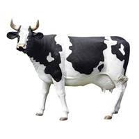SheilaShrubs.com: The Grand-Scale Wildlife Animal Collection - Holstein Cow Statue NE80139 by Design Toscano: Garden Sculptures & Statues