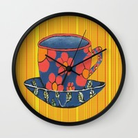 Tea Party Wall Clock by Kathleen Sartoris