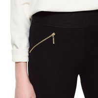 LEGGINGS WITH WAISTBAND AND ZIPS - Trousers - Woman - ZARA Canada
