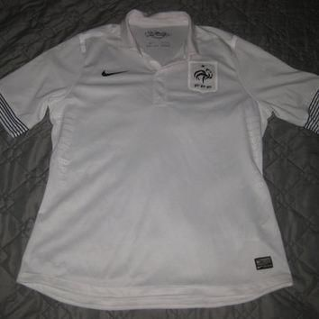 Sale!! Vintage Nike France Away Soccer Jersey Football Shirt Size XL Free shipping wit
