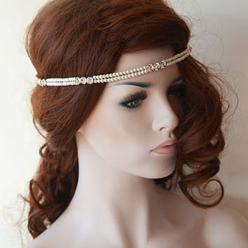 Pearl and Rhinestone Headband, Wedding Headband,  Wedding Accessories,  Bridal Hair Accessory, Headbands for Women