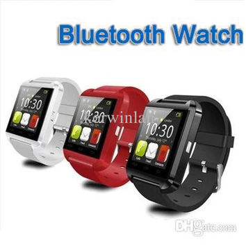 Bluetooth Watch with LED Time Caller ID Display Waterproof Watch Phone Touch Screen watches smart Watch Phone Free Shipping