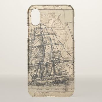 Setting Sail Apple iPhone X Clear Case