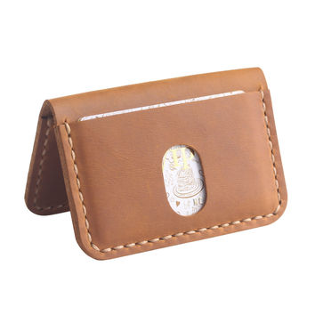 Handcraft Genuine Leather Gifold Wallet - Slim Card Leather Wallet - Minimalist Front Pocket Card Holder