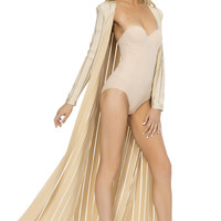 Mehra Bandage Duster - Nude