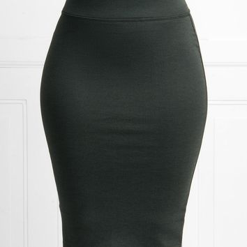 Andy Pencil Skirt Charcoal