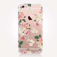 Transparent Romantic Roses iPhone Case- Transparent Case - Clear Case - Transparent iPhone 6 - Transparent iPhone 5 - Transparent iPhone 4