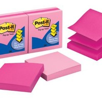 Post-it Pop-up Notes, 3 x 3-Inches, Assorted Pink Colors, 6-Pads/Pack