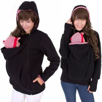 Sling-Style Baby Carrier Women's Maternity Hoodie