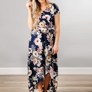 Flirty Floral Hi-Low Dress