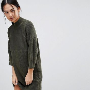 Noisy May High Neck Knitted Dress at asos.com