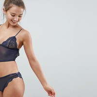ASOS Sia Longline Open Back Triangle Bra at asos.com