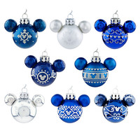 Disney Mickey Mouse Icon Ornament Set - Blue | Disney Store