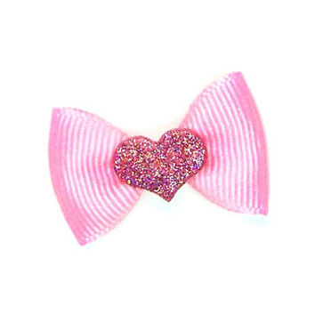 Sweet Heart Top Knot Bow — Pink