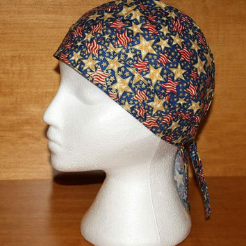 SALE, Bikers Skull Cap, Bandana, Do Rag, Stars and Stripes