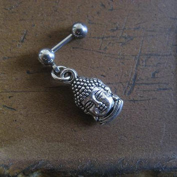 Buddha Head Charm Tragus Helix Cartilage Charm Dangle Piercing Earring Ear Jewelry 16g 16 G Gauge