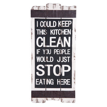 STOP EATING IN KITCHEN WALL ART