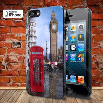 Red Telephone box Big Ben Case For iPhone 5, 5S, 5C, 4, 4S and Samsung Galaxy S3, S4