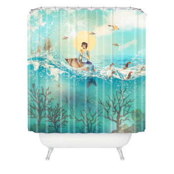 Belle13 The Queen Mermaid Shower Curtain