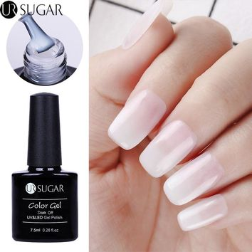 UR SUGAR Opal Jelly Gel Polish 7.5ml White Soak Off UV Gel Nail Polish Varnish Manicure Nail Art Lacquer Decoration UV LED