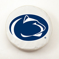 Holland Bar Stool Penn State Tire Cover in White