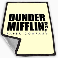Dunder Mifflin Paper Company Blanket for Kids Blanket, Fleece Blanket Cute and Awesome Blanket for your bedding, Blanket fleece *