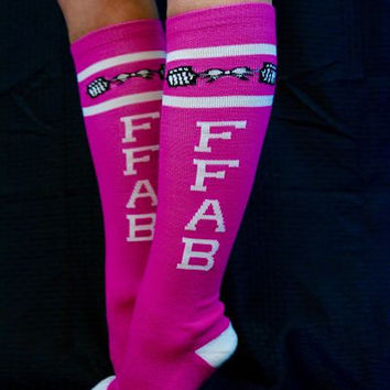 FFAB Pink Tall Socks