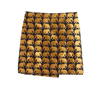 J.Crew Womens Origami Skirt In Elephant Parade
