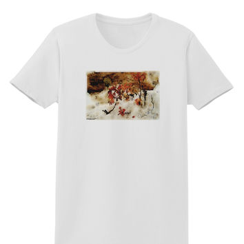 CO Painted Mines Watercolor Womens T-Shirt