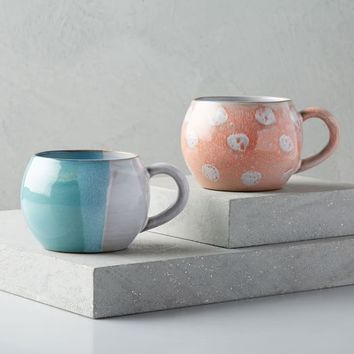 Abstract Round Mugs