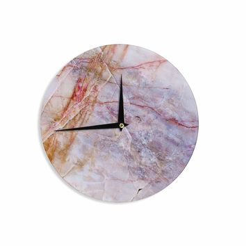 Crazed Marble - Purple Gold Geological Photography Wall Clock