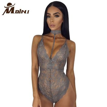 2018 Summer Women Sexy Lace Bodysuit Jumpsuit Romper New Fashion Bodysuits One-pieces Female Cami Catsuit Overalls Leotard