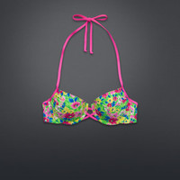 Floral Push 'Em Up Swim Top