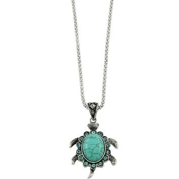 Sea Turtle Turquoise Necklace