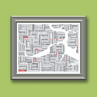 Boston Typographic Map