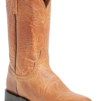 Men's Lucchese 'Goat Roper - Argyle Stitch' Leather Boot