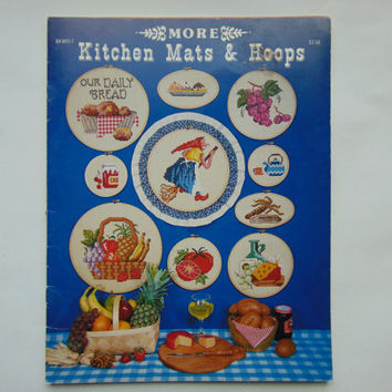 MORE Kitchen Mats & Hoops Cross Stitch Pattern Leaflet Book