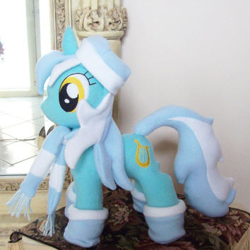 Mlp Fim Open Commission LYRA HEARTSTRINGS W/ Removable Accessories Custom Plush