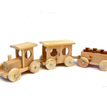Toy handmade. Wooden toy. Wood toy. Wooden toy for toddlers. Wooden toy for boys. Wooden pull toy. Toy tractor. Wagon. Cart. Milk pails.