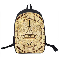 Illuminati Gravity Falls Backpack bag childrens youth teen adult school laptop books carrying Cartoon trendy