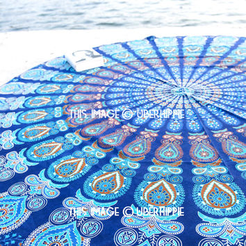 Mandala Round /Mandala Tapestry , Indian Wall Hanging , Beach Throw , Picnic Throw