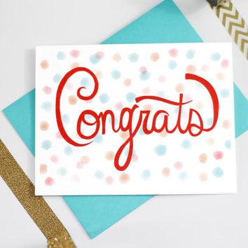 Celebration Congrats Hand Illustrated Greeting Card