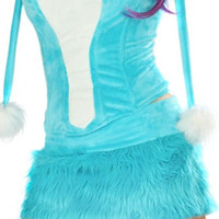 Turquoise Rave Bear Corset and Skirt
