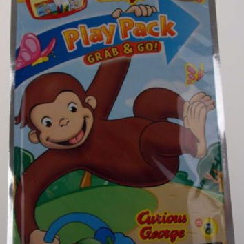 Lot 12 Curious George Easter Play Pack Grab & Go Coloring Book Crayons Stickers