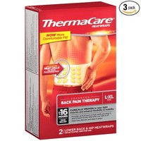ThermaCare Lower Back & Hip Pain Therapy Heatwraps, L-XL Size (2-Count, Pack of 3)