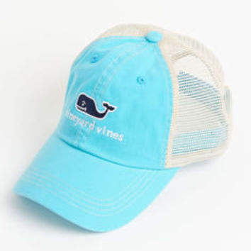 Men's Hats: vineyard vines logo embroidered trucker hat - vineyard vines